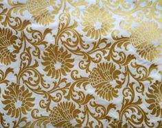 Green Brocade Fabric Indian Sewing Fabric by Indianlacesandfabric
