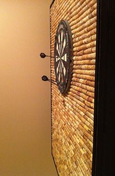 Protect Your Wall from Stray Darts with This DIY Dartboard Cabinet Made of Wine Corks « MacGyverisms dart board man cave game room