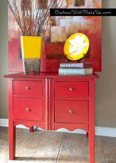 """Small Drawer Chest painted with Annie Sloan Chalk Paint in """"Emperor's Silk"""""""