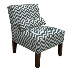 I pinned this Zig Zag Accent Chair in Navy from the Skyline event at Joss and Main!