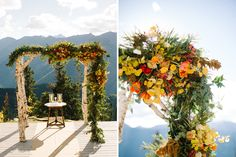 Choose an asymmetrical chuppah or altar for an unstructured effect