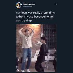 He's literally babie 🥺 Namjoon, Bts Bangtan Boy, Bts Funny Videos, Bts Memes Hilarious, Bts Tweet, Album Bts, Bts Rap Monster, Fandom Memes, Bts Video