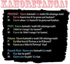"""Tonight we learned about negating sentences; Kāhoretanga. Just the kick I needed to remind me how to say all of these properly! Instead of using """"kāore… i"""" for everything! I nee…"""