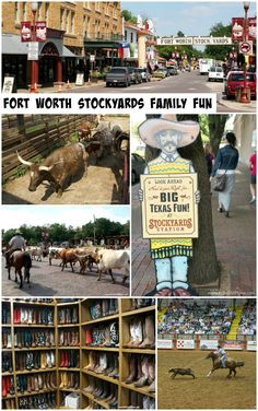 Fort Worth Stockyards - fun ideas for visiting Fort Worth, Texas and the popular Fort Worth Stockyards! Great tips for spending the day with your family there. #TexasToDo
