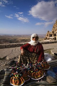 Souvenir vendor in Uchisar, Turkey