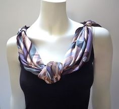 Collier Knot - scarf tie for hot climates where scarf sits on sleeveless shirt not skin From Picture Book