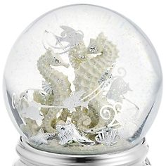 Personalized Sea Horse Water Globe