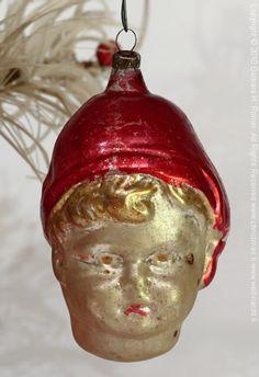 Antique Christmas Ornaments | Antique fragile figural glass ornament exclusive Christmas decoration ...
