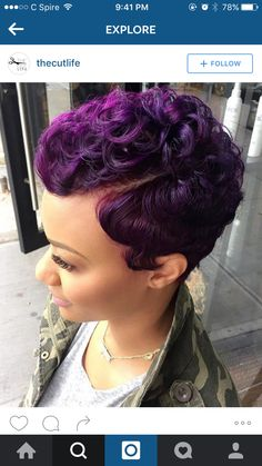 If I Was Bold Enough #Purple #ShortHair #TheCutLife