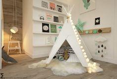 Finde skandinavische Kinderzimmer Designs von ELEMENTY - Pracownia Architektury Wnętrz. Entdecke die schönsten Bilder zur Inspiration für die Gestaltung deines Traumhauses.