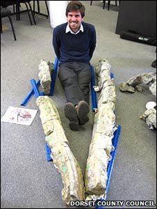 Giant Pliosaur Remains Go On Display in Dorset (England)