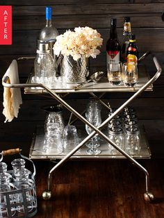 Before & After: A Bar Cart Worth Toasting | Apartment Therapy