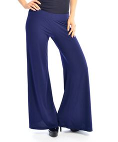 Loving this Navy Palazzo Pants - Women on #zulily! #zulilyfinds