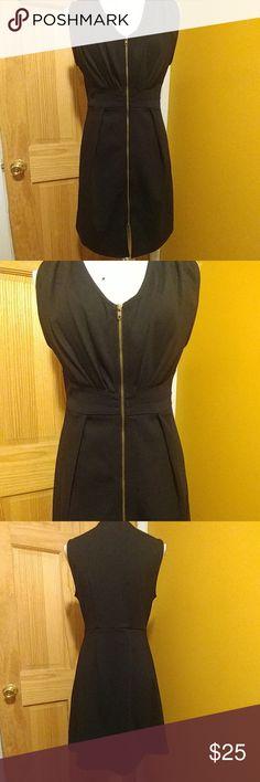 Zip Up Little Black Dress Full zip up from top to bottom. Wear as sexy little black dress or over leggings. Forever 21 Dresses Mini