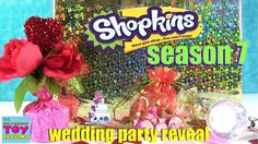 Shopkins Reveal Season 7 Wedding Party Surprise Present Blind Bags Today we get to reveal the entire Shopkins Season 7 Wedding Party category to you. Shopkins Season 7, Blinds, Presents, Seasons, Toys, Party, Wedding, Gifts, Activity Toys