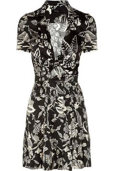 isabel-marant-black-white-silk-dress-xln