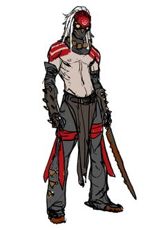 SIXMOREVODKA Character Concept, Character Art, Concept Art, Dnd Characters, Fantasy Characters, Fantasy Warrior, Fantasy Art, Apocalypse World, Dystopia Rising