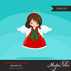 christmas-angels-clipart-brunette