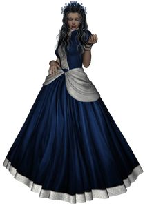 Doll i blåt. Online Diary, 3d Fantasy, Diaries, Clip Art, Victorian, Dolls, Dresses, Women, Fashion