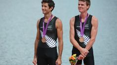 Peter Taylor and Storm Uru (Rowing, New Zealand) - Yet another well fought bronze from our wicked rowing team. Olympic Team, Rowing Team, Latest Sports News, Rugby, Cricket, New Zealand, Olympics, Tank Man