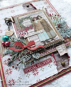 Hope you all had a great weekend and ready for the brand new week ahead and a brand new Simon Says Stamp Monday Challe. Christmas Albums, Christmas Scrapbook, Christmas Projects, Create Christmas Cards, Holiday Cards, Special Delivery, Winter Christmas, Xmas, Christmas Printables
