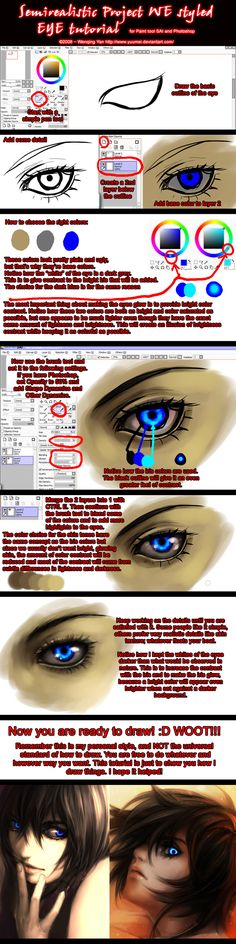Semirealistic Eye Tutorial by yuumei on deviantART