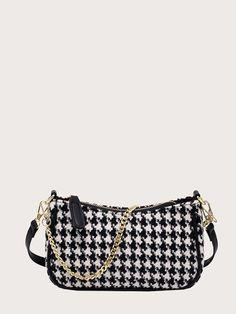 Houndstooth, Bags, Fashion, Handbags, Moda, Fashion Styles, Fashion Illustrations, Bag, Totes