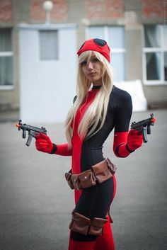 Best representation descriptions: Lady Deadpool Cosplay Related searches: Best Comic-Con Costumes,San Diego Comic-Con Costumes,Easy Comic-C. Deadpool Costume For Sale, Cosplay Marvel, Deadpool Cosplay Costume, Halloween Cosplay, Cosplay Costumes, Halloween Town, Halloween Stuff, Halloween Costumes, Lady Deadpool