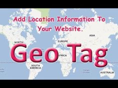 Geo meta tags is the geographical for indication of websites which consists of latitude and longitude.