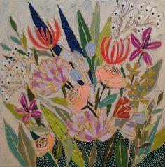Image of Flowers for Glenda Flower Landscape, Virtual Art, Art Tutorials, Painting Inspiration, Cool Art, Fun Art, Flower Art, Art Projects, Art Photography