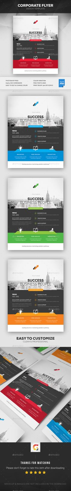 Corporate Flyer  Flyer Template Brochures And Editorial