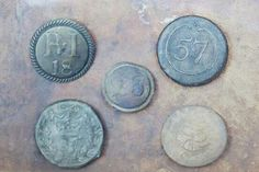 British Regimental Buttons from the Revolutionary War recently found in old New York City landfill sites.