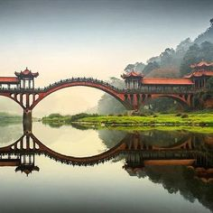 A bridge near the Leshan Giant Buddha Statues Grottoes in #Sichuan province, #China #MustVisit