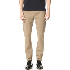 The Kooples Sport Cotton Chinos (810 MYR) ❤ liked on Polyvore featuring men's fashion, men's clothing, men's pants, men's casual pants и beige