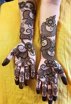 Bridal Henna Mehndi Designs for Full Hands Circle Mehndi Designs, Khafif Mehndi Design, Henna Tattoo Designs Simple, Floral Henna Designs, Latest Arabic Mehndi Designs, Latest Bridal Mehndi Designs, Engagement Mehndi Designs, Mehndi Designs Book, Mehndi Designs For Beginners