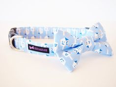 Hanukkah Dog Collar Bow Tie Set Dreidel by CollarMeCharming, $24.95