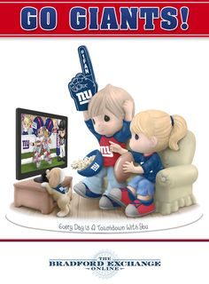 Limited-edition NFL-licensed Precious Moments figurine celebrates the Giants and your sweetheart