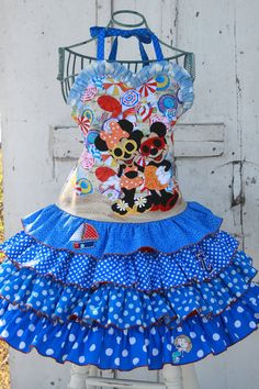 Minnie and Mickey Cruise Applique Dress Disney by roseythreads