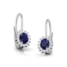 Buy Glory Sparkle Hoop Earrings at CaratLane.com - India's Largest Online Jewellery Store. India Online, Ear Rings, Jewelry Stores, Sapphire, White Gold, Hoop Earrings, Sparkle, Jewellery, Diamond