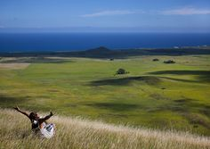 Woman At The Top Of A Hill, Easter Island, Chile by Eric Lafforgue, via Flickr