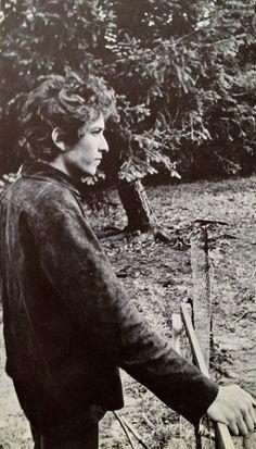 Bob Dylan in Woodstock, NY '63 by Daniel Kramer