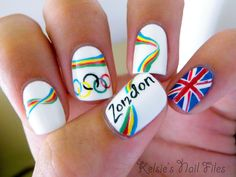 Kelsie's Nail Files- I LOVE what she did with the 2012don to make it look like London!