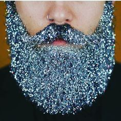"""If a man stepped up to me with this, I'd be like """"You get sandwiches for life, marriage... NOW."""" #iloveglitter #glitterbeard #glitterfest"""