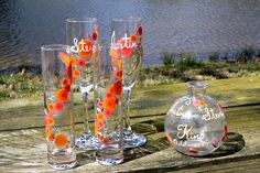 toasting flutes and unity sand set  great deal by eclipse1905030, $45.00