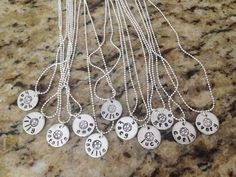 Team Necklaces - Personalized Hand Stamped for Soccer, Lacrosse, Basketball, Volleyball, Football, Baseball/ Softball, Swimming, Hockey