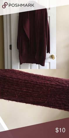 Super comfy sweater. Maroon long sweater. Smoke-free home. Light wear under sleeves. Mossimo Supply Co Sweaters Cardigans