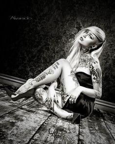 Tattoo Model - Sara Fabel by Alvarado Tattoo Photography, Photography Women, Hot Tattoos, Life Tattoos, Tatoos, Cyberpunk, Sara Fabel, Ink Model, 1 Tattoo