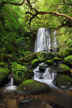 Matai Falls, Catlins, South Island, New Zealand ~ Beautiful Waterfalls, Beautiful Landscapes, Beautiful World, Beautiful Places, Landscape Photography, Nature Photography, Scenic Photography, Les Cascades, Nature Scenes