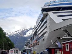 Radiance of the Seas arrives in Skagway, Alaska.