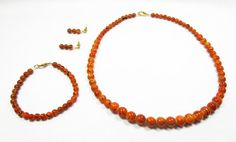 Orange and Black Halloween Jewelry Set by kiddercreations on Etsy, $20.00